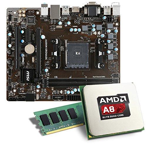 AMD A8-6600K / MSI A68HM-GRENADE Mainboard Bundle / 4096 MB | CSL PC Aufrüstkit | AMD A8-6600K APU 4x 3900 MHz, 4GB DDR3, Radeon HD 8570D, GigLAN, 7.1 Sound | Aufrüstset | PC Tuning Kit