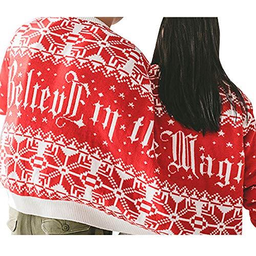 (SuperSU Weihnachten Kleidung Pullover Unisex Paar Pärchen Damen Herren Hoodies Langarm Pullover Neuheit Weihnachten Bluse Top Shirt Drucken Sweatshirt Twin 2 Top)