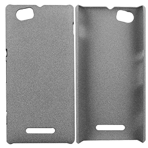 Heartly QuickSand Matte Finish Hybrid Flip Thin Hard Bumper Back Case Cover For Sony Xperia M C1905 C1904 - Retro Grey  available at amazon for Rs.299