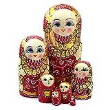 Wildlead 7 teile / satz Neue Hölzerne Russische Verschachtelung Puppen Geflecht Mädchen Spielzeug Traditionellen Matryoshka Wishing Puppen für Geburtstag