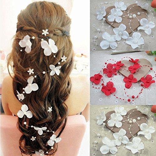 DIY romantische Braut Tiara, elegante künstliche Perlen Perlen Threaded Angelschnur-wie Kette Garland Innovative Möbel Hochzeit Dekoration