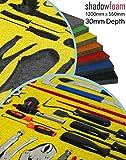 Gelb Schatten Schaumstoff–Werkzeug Veranstalter–Stanley gelb | Lean Werkzeug Kontrolle Organizer | FOD & 5S Hilfe, gelb