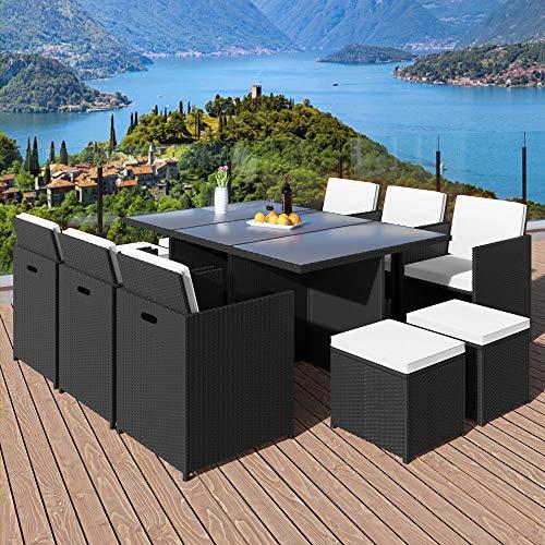 Poly Rattan Sitzgruppe 27tlg Sitzgarnitur Gartengarnitur Rattanmöbel Cube - 2