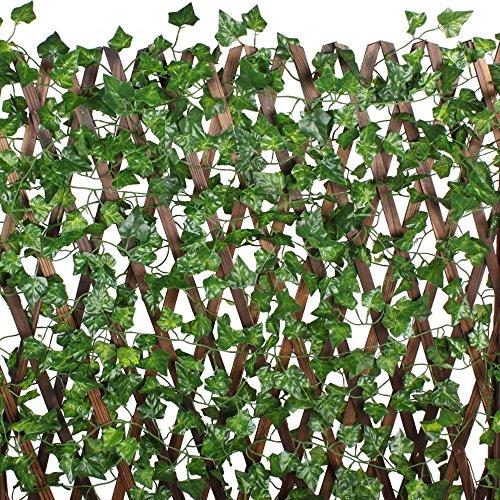 Aoner 12 tralci 2 metri edera artificiale foglie finta for Edera artificiale per balconi