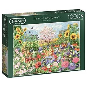 Jumbo Falcon de Luxe The Sunflower Garden 1000 pcs Puzzle - Rompecabezas (Puzzle Rompecabezas, Flora, Adultos, Niño/niña, 12 año(s), Interior)
