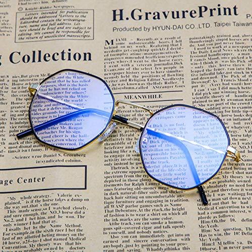 Sonnenbrillen Blu-ray-sperrbrillen, Blendmüdigkeit, Die Kopfschmerzen Beim Augenschutz Blockiert, Computer/mobile Sicherheitsbrillen, Transparente Linsen Schwarzer Gold-Rahmen (Taschenklau)