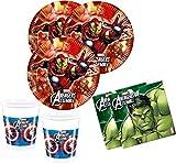 Kit da 36 articoli per feste, motivo: Avengers Heroes - Set per 8 bambini