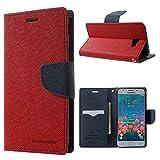 MERCURY GOOSPERY Fancy Diary Leather Flip Cover - Tasche Hüllen Schutzhülle für Samsung Galaxy J5 Prime/On5 2016 - rot
