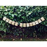 """Girlande mit """"Happy Birthday""""-Aufschrift in klassischem Design aus Pappe"""