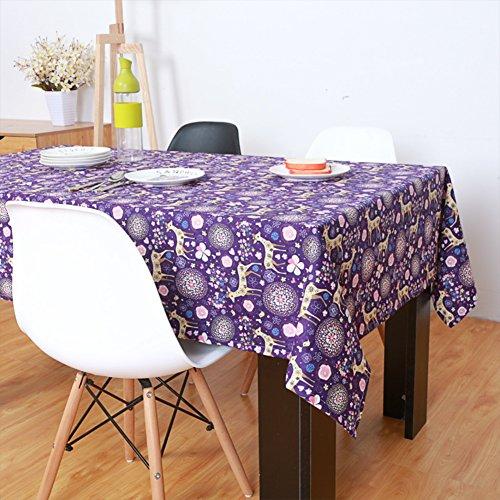 DXG&FX Noël Outdoor nappe livre imprimé chemin de table d'impression Country américain rectangulaire table basse-chiffon tissu recouvrant-A 140x220cm(55x87inch)
