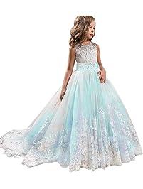 3b978ad1679d Frashing-Mädchen Kleider Party Hochzeit Prinzessin Kleid Stickerei  Prinzessin Festzug Kleider Abschlussball Ballkleid Blumenmaedchenkleid  Formale