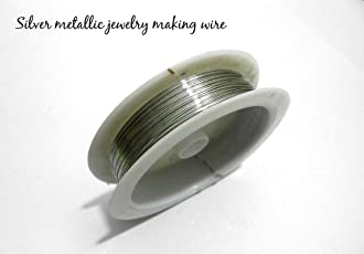 Goelx Jewellery Making wire-choose color Beading wire Metallic Wire for Jewellery Making.
