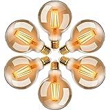 EXTRASTAR Ampoules LED Edison Vintage G95 E27, 4W, Blanc Chaud 2200K, Ampoule Rétro à Filament, Equivalent à Ampoule Incandes