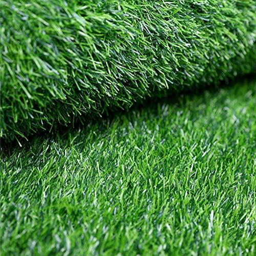 YUER Kunstrasenmatte für Balkon Garten, Rasenfläche Teppich 15mm Stapelhöhe Pet Pad Mat Garten Teppich Fußmatte Gummi mit Drainagelöchern gesichert (Size : 2mx1.5m)