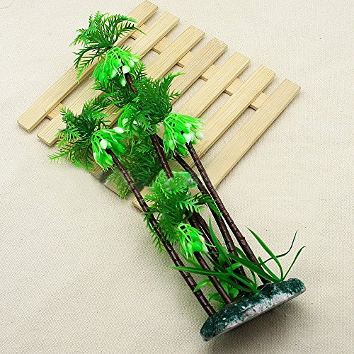 Berrose Aquarium Dekoration Goldfischglas Landschaftsbau Baum Lawn Künstliche Wasser-Wassergras Pflanze Landschaft
