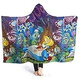 Jasmin-Shop Kapuze Decke Minnie Mouse Print Super weiche Flanell Sherpa Plüsch Fleece tragbare Decke -50 'x 40'