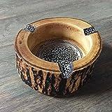 SDKKY Artes y Manualidades, artesanias de Madera Maciza Decorativos, cenicero, Personalizado