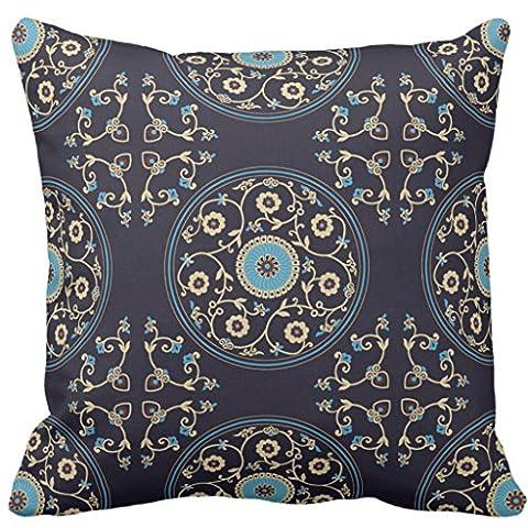 Vintage décoratifs Taie d'oreiller Couvre-lit Housse de coussin Taies d'oreiller Housse de coussin carré, couleur, 40,6 x 40,6cm