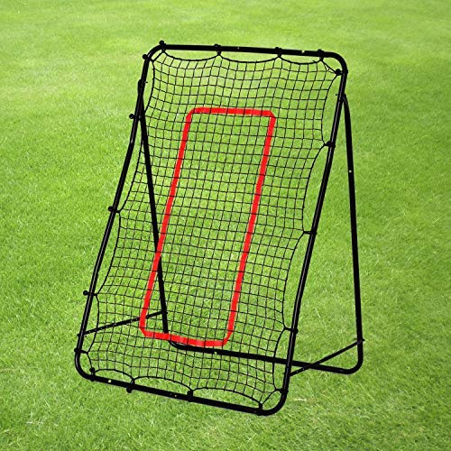 Rexco 2006701 GR8 Fitness Groß 1,5 m hoch Rebounder Netz Target Ball Kickback Fußball Training Playback Goal Skills Game Equipment Aid Schwarz -