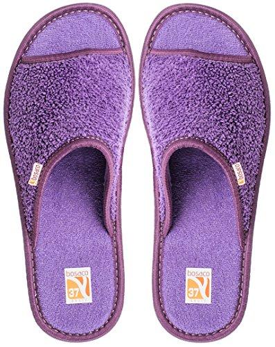 Bosaco Damen Hausschuhe Bad Violett 1