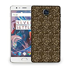Snoogg Flowy Motif Designer Protective Back Case Cover For OnePlus 3