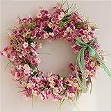 GMM Schwellengirlanden Frühlingsblumen, die Blumen heiraten, die Hintergrundrequisiten dekorative Girlandenplantürverzierungen hängenden Türdekorationskranz wedding sind