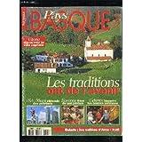 PAYS BASQUE MAGAZINE N° 5 - PELOTE ; VITORIA ; CIDRERIES ; VALLEE D'ARCE ; JAMBON DE BAYONNE ; GERNIKA ; TAMBORRADA ; ABBADIA