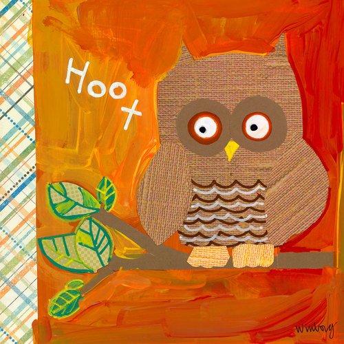 Oopsy Daisy Hoot geht die Eule von winborg Schwestern Leinwand Wand Art, 18von - Owl Papier Gewicht