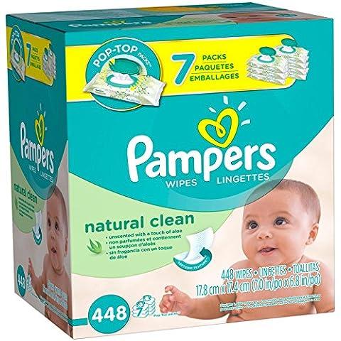 Pampers Natural Clean Wipes Pop-Top Packs - 448 CT by Pampers