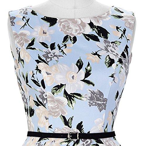 1950er rockabilly kleid ärmellos sommerkleid a linie festliches kleid abschlussballkleid Größe S CL6086-41 - 7