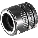 Neewer 12mm, 20mm, 36mm Black Auto Focus Macro Extension Tube Set for Nikon SLR cameras and Nikkor AF, AF-S, D, G and VR…