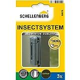 Schellenberg 50678 aluminium scharnieren voor ramen en deuren, 3 stuks, 25/32