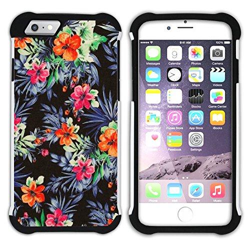 Graphic4You Hawaiisch Hawaii Postkarte Hart + Weiche Kratzfeste Hülle Case Schale Tasche Schutzhülle für Apple iPhone 6 Plus / 6S Plus Design #1
