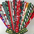Always Knitting And Sewing20 polycotton fat quarters LUCKY DIP MIXED Christmas fabrics santa holly etc.