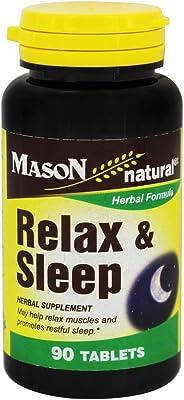 Mason Natural, Relax & Sleep, 90 Tablets (not Melatonin)