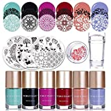 NICOLE DIARY 6 Flaschen Stamping polnischen Nail Art Lack 3Pcs