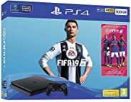 Sony PlayStation 4 Slim 500GB Console with FIFA 19 - Black