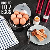 from Savisto Savisto Electric Egg Boiler with Poacher, Steamer and Omelette Maker Attachments | 7 Egg Capacity - Black