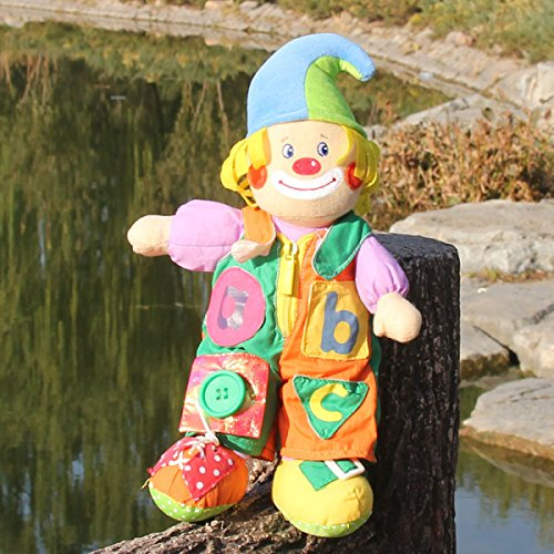 GAOQIANG Niedliche Clown Bär Rag Doll Plüschtier Teddybär Puppe Kinder Puppe Clown Kaninchen Weihnachtsmann,A1 (Doll Clown Rag)