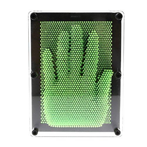 MagiDeal 3D Nagelbrett Nadel Malerei Skulptur Nagelbild Nagelspiel - 3 Farben zu wahlen - Grün, L