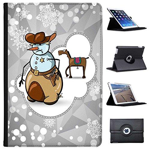 Fancy A Snuggle Schneemann Cowboy Sheriff-Dienstmarke Case Cover/Folio aus Kunstleder für Das Apple iPad Pro 10.5
