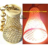 #4: GreenAge - BAMBOO HANGING FUNNEL TYPE LAMP SHADE - HAND MADE BY INDIAN COTTAGE INDUSTRY FOR INDOOR HOME AND GARDEN DECORATION-1