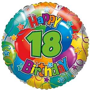 karaloon f81018p Globo Happy Birthday Número 18