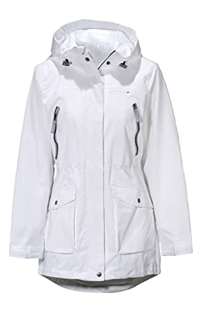 White Red or Coral Lightweight Ladies Jacket Parka Coat Mac (10/12 ...