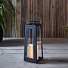 Farolillo Solar Metálico de Vela LED para Jardín y Exteriores de Lights4fun