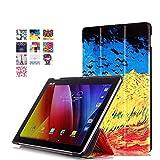 Voguecase Tablet-Schutzhülle, ASUS ZenPad 10 Z300CL, champ de blé d'or, Stück: 1