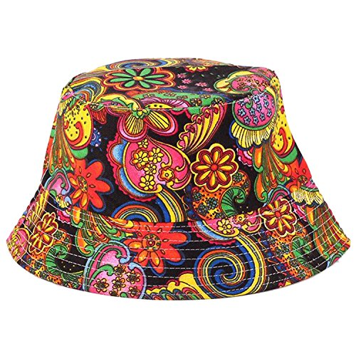 Psychedelic Unisex Satin Lined Cotton Bucket Hat