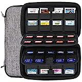 Sisma Pochette de rangement pour 72 jeux Nintendo Switch 3DS 2DS DS PSVita Cartes SD - Gris