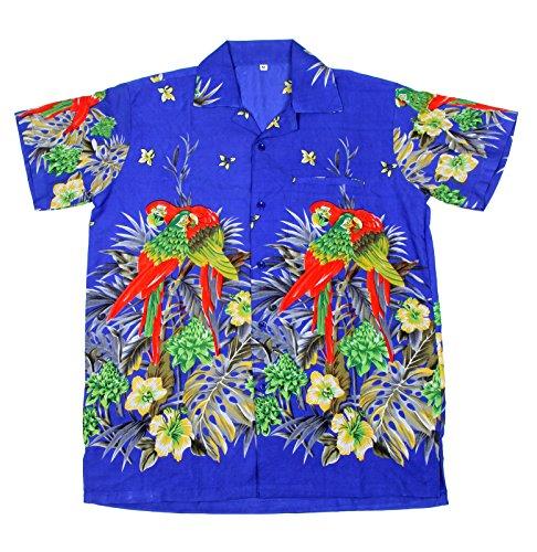 SAITARK Herren Freizeit-Hemd mehrfarbig mehrfarbig One size 101 B PARROT