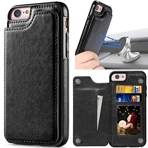 Galleria fotografica Cover iPhone 6, kazineer Cover iPhone 6S Ultra Sottile Posteriore Caso in pelle Custodia per Apple iPhone 6 / 6S - Nero